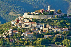 The fortified town of Motovun, on hilltop